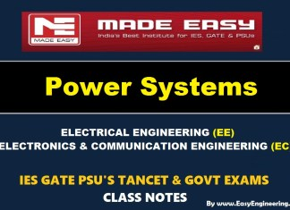 POWER SYSTEM Handwritten Made Easy IES GATE PSU's TNPSC TRB TANCET SSC JE AE AEE & GOVT EXAMS Study Materials