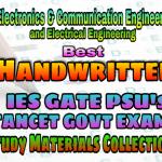 Best Handwritten IES GATE PSU's TNPSC TANCET SSC JE AE AEE & GOVT EXAMS Study Materials