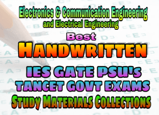 Best Handwritten IES GATE PSU's TNPSC TANCET SSC JE AE AEE & GOVT EXAMS Study Materials