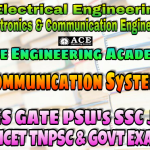 COMMUNICATION SYSTEMS ACE Engineering Academy IES GATE PSU's TNPSC TANCET & GOVT EXAMS Study Materials
