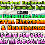 DIGITAL ELECTRONICS & MICROPROCESSORS ACE Engineering Academy IES GATE PSU's TNPSC TANCET & GOVT EXAMS Study Materials