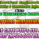 ELECTRICAL MEASUREMENTSACE Engineering Academy IES GATE PSU's TNPSC TANCET & GOVT EXAMS Study Materials