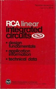 1978 LINEAR INTEGRATED CIRCUITS DATA BOOK BY RCA CORPORATION
