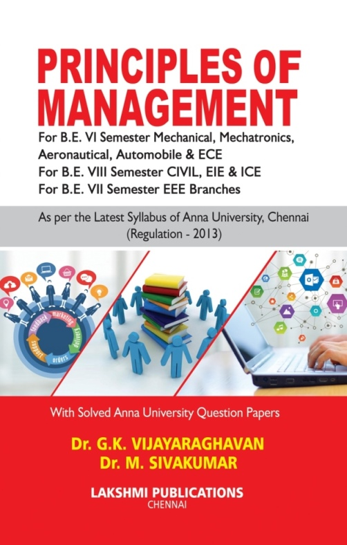Principles Of Management (Local Author) By Dr. G. K. Vijayaraghavan, M. Sivakumar