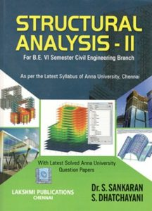 Structural Analysis-II By Dr.S. Sankaranand, S.Dhatchayani