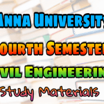 Anna University Civil Engineering Fourth Semester