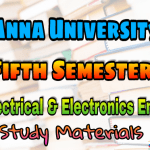 Anna University Electrical and Electronic Engineering Fifth Semester