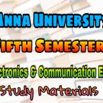 Anna University Electronics and Communication Engineering Fifth Semester