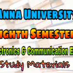 Anna University Electronics and Communication Engineering Eighth Semester