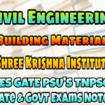Sri Krishna Institute Building Materials Handwritten Classroom Notes
