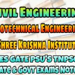 Sri Krishna Institute Geotechnical Engineering (Soil Mechanics & Foundation Engineering) Handwritten Classroom Notes
