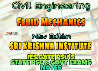 Sri Krishna Institute Fluid Mechanics Handwritten Classroom Notes