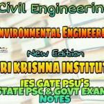 Sri Krishnaa Institute Environmental Engineering Handwritten Classroom Notes
