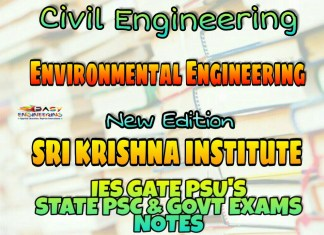 Sri Krishna Institute Environmental Engineering Handwritten Classroom Notes