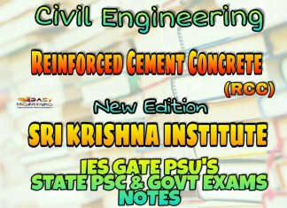 Sri Krishna Institute Reinforced Cement Concrete Handwritten Classroom Notes