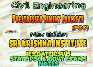 Sri Krishna Institute Prestressed Cement Concrete (PCC) Handwritten Classroom Notes