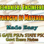 Made Easy Strength of Materials Handwritten Classroom Notes
