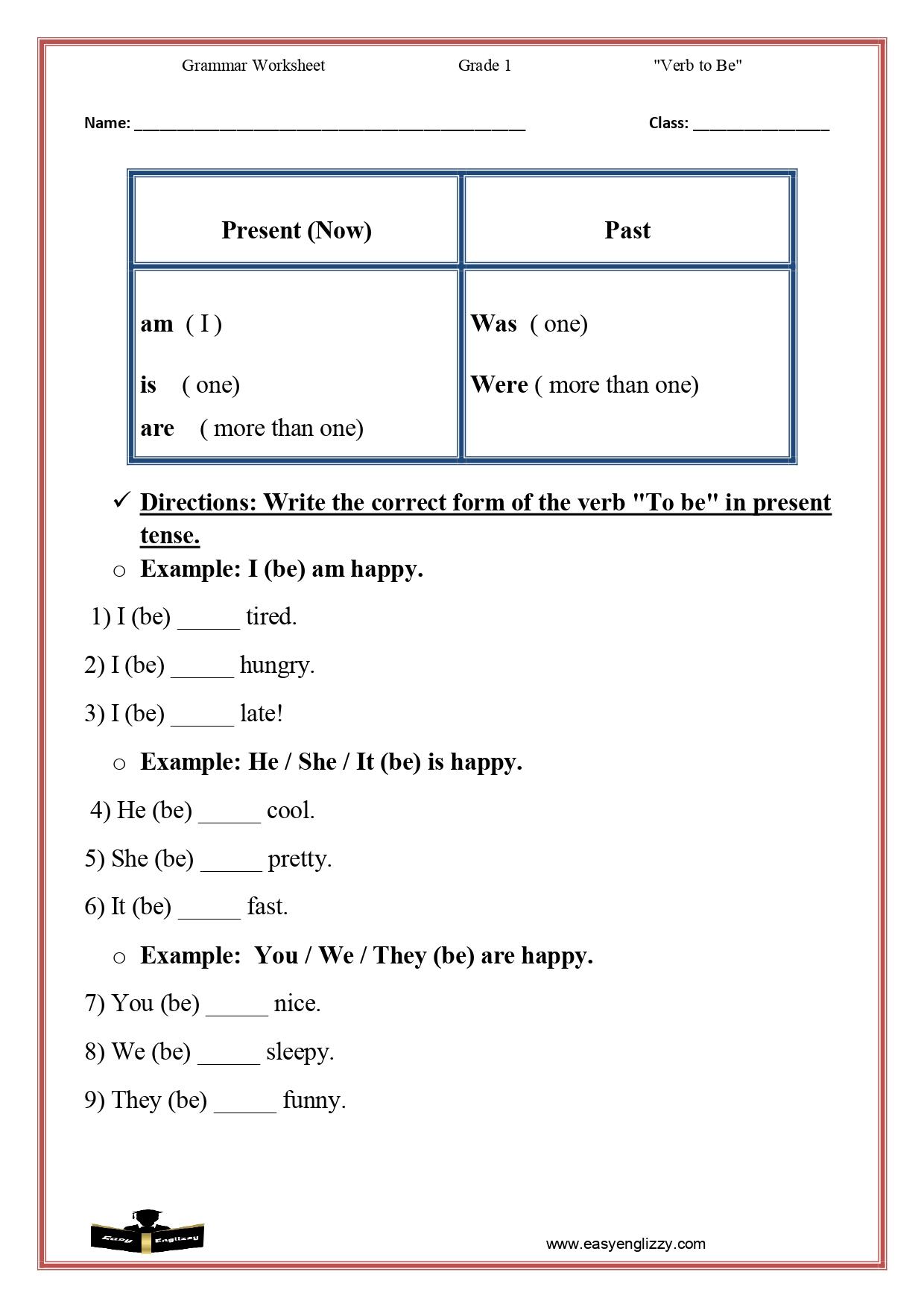 hight resolution of Verb Worksheet For Class 1   www.robertdee.org