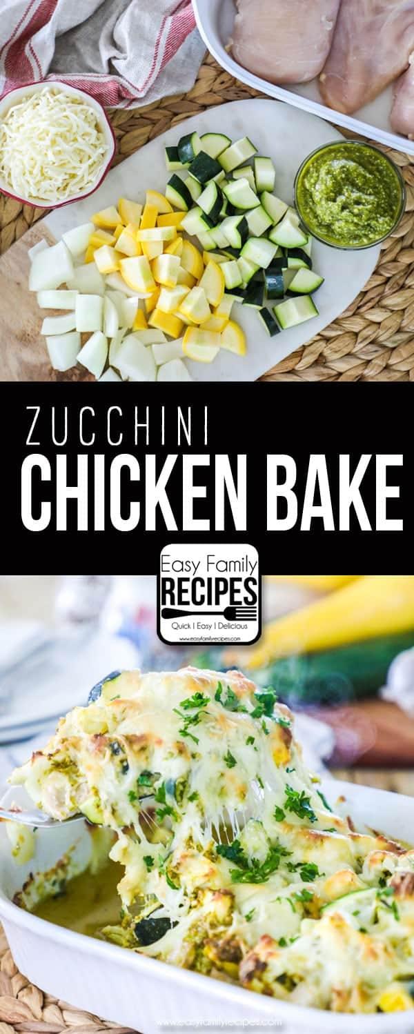 Chicken Zucchini Casserole recipe- Perfect one dish dinner