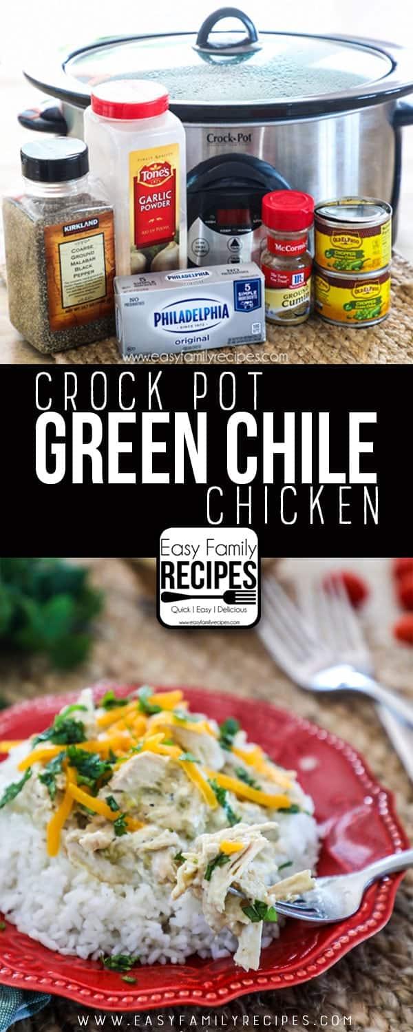 Green Chile Chicken Crock Pot Recipe