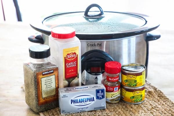 Green Chile Chicken Crock Pot Ingredients