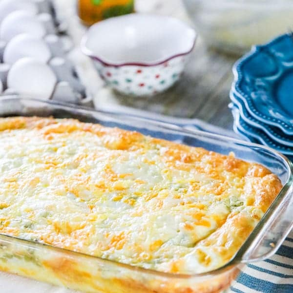 Baked Egg Casserole with Green Chiles Recipe