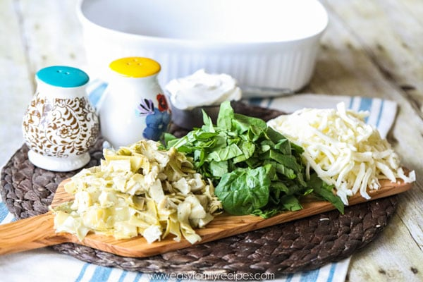 Spinach and Artichoke Chicken Ingredients