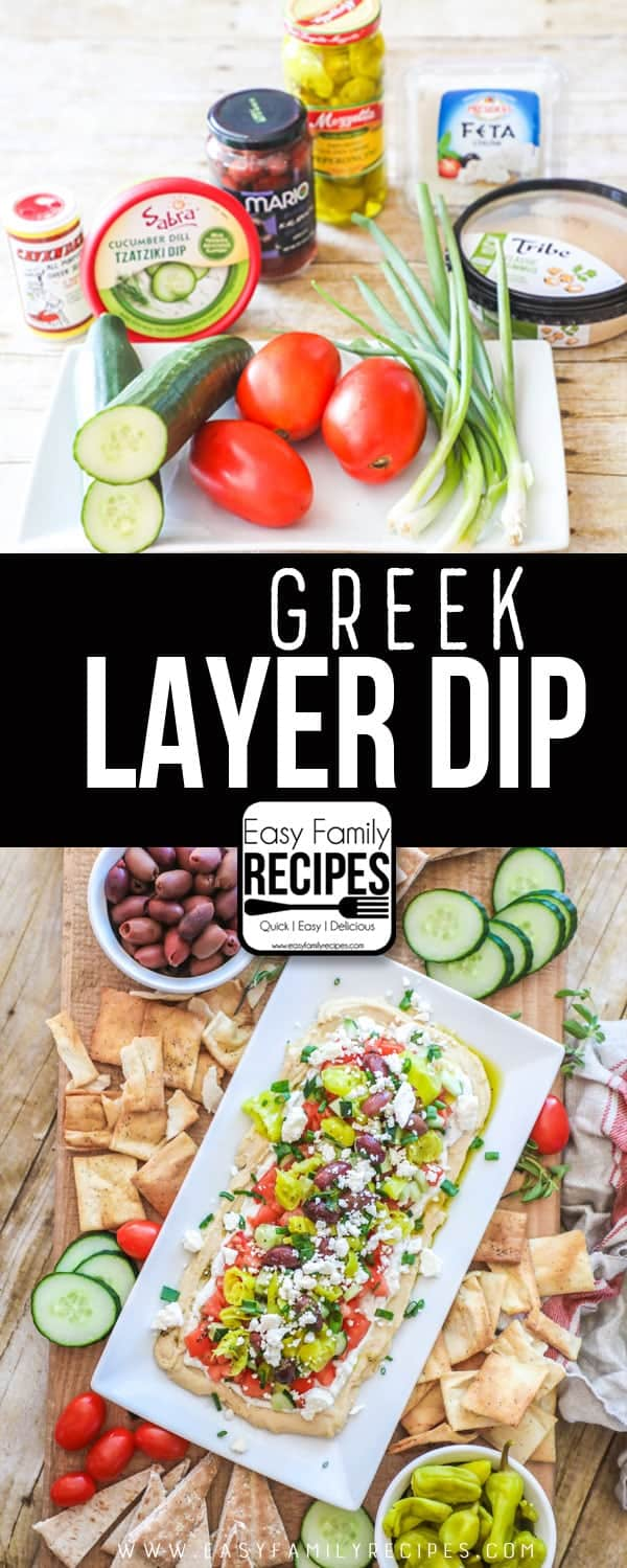 Greek Layer Dip - This stuff is TO DIE FOR (and even healthy!)
