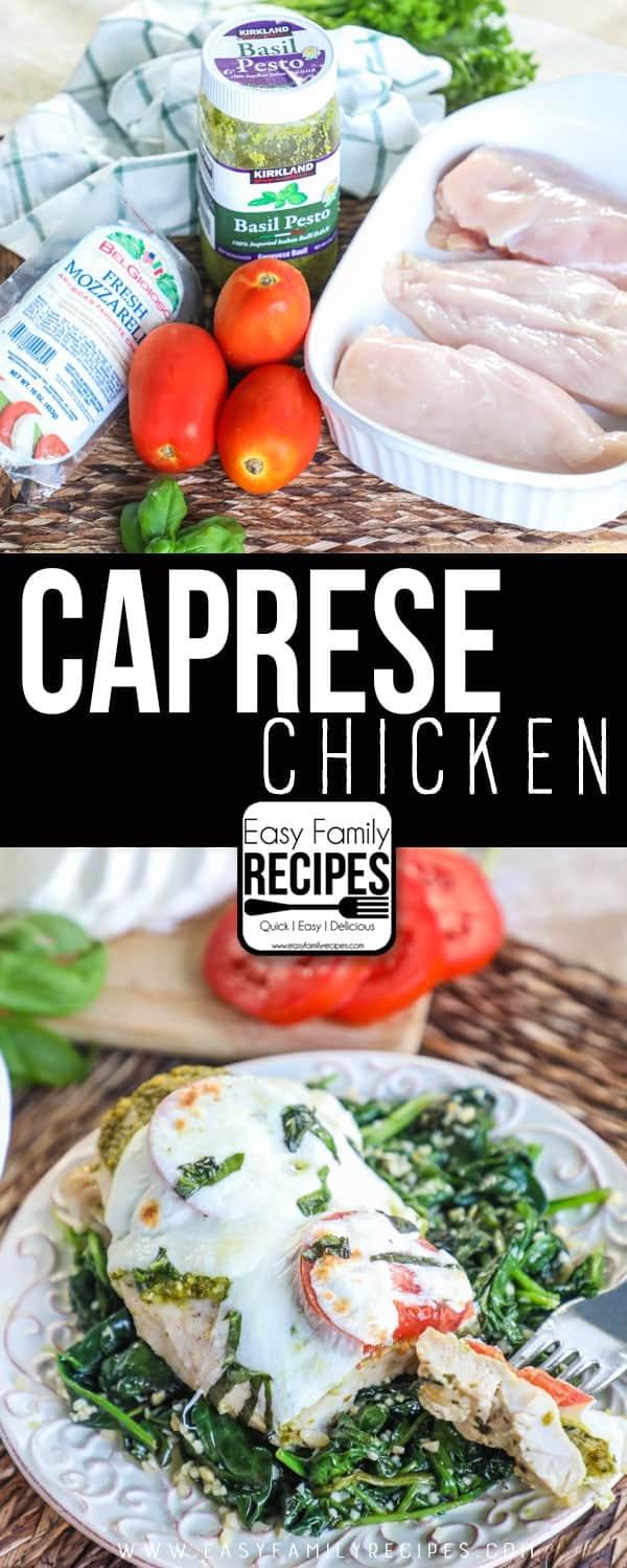 Caprese Chicken recipe & ingredients