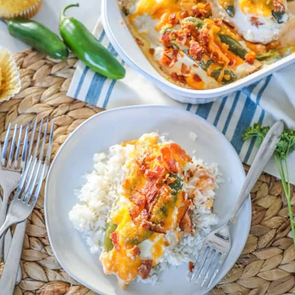 Jalapeno Popper Chicken and Rice