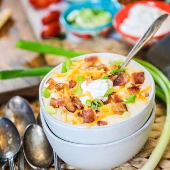 Loaded Baked Potato Soup crockpot