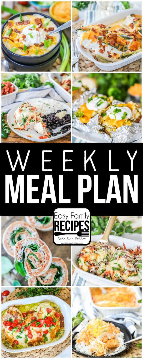 Weekly Meal Plan - Ideas for dinner. Updated EVERY week!
