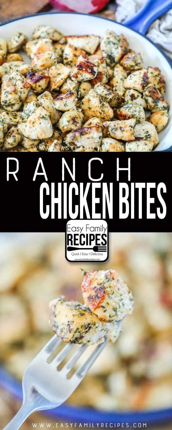 The BEST Ranch Chicken Bites