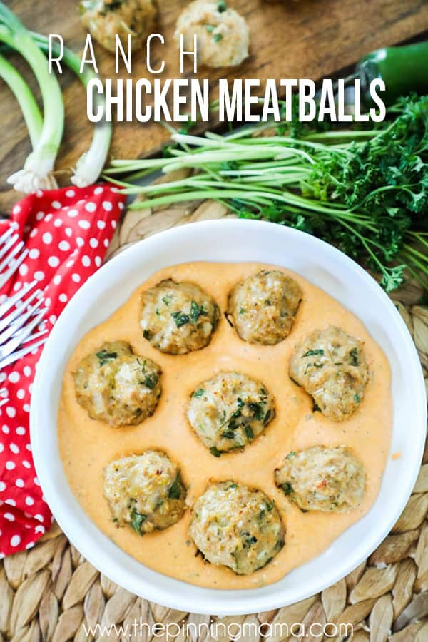 Buffalo Ranch Chicken Meatballs