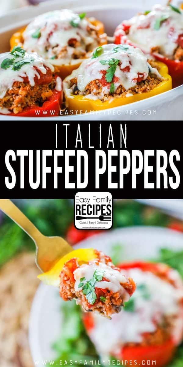 The BEST Italian Stuffed Peppers