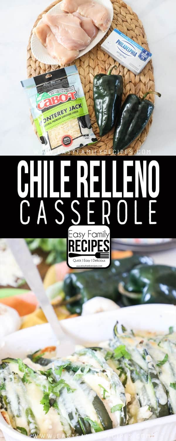Chile Relleno Casserole Ingredients and casserole dish