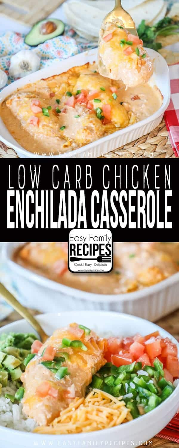 Try this delicious creamy low carb chicken casserole.