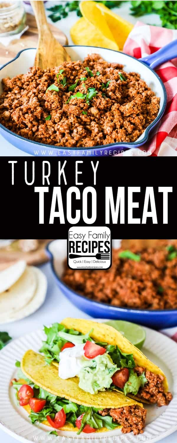 Ground Turkey Taco Tacos are delicious and full of flavor. A perfect weeknight recipe.