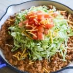 Creamy Taco Skillet Step 3: Top with lettuce and tomato