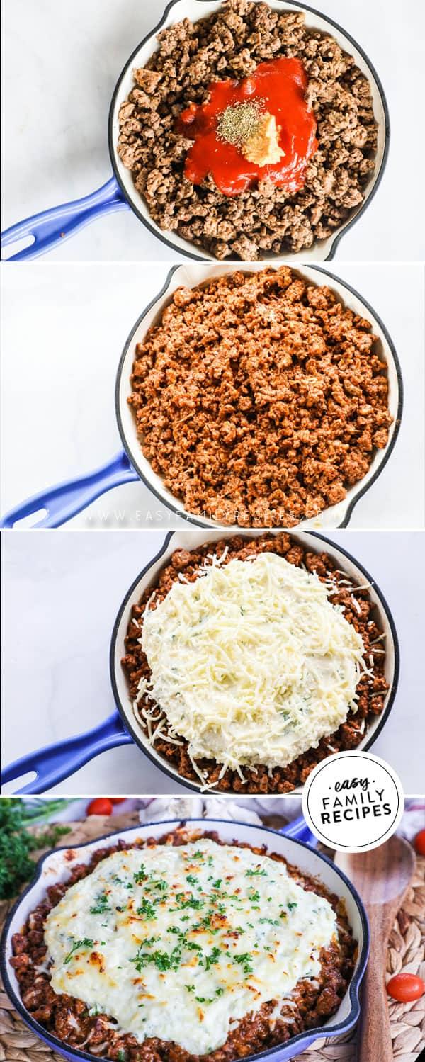 Steps to Make Easy Skillet Lasagna
