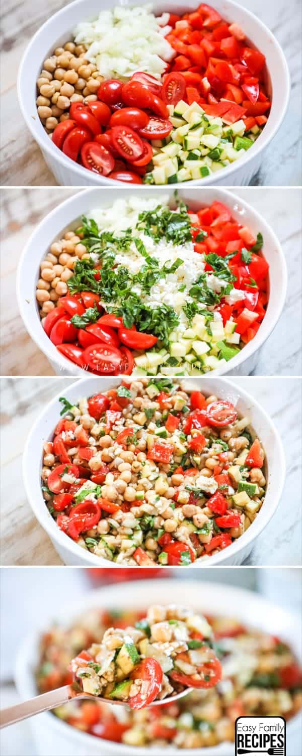 Steps to Making Chickpea Salad.