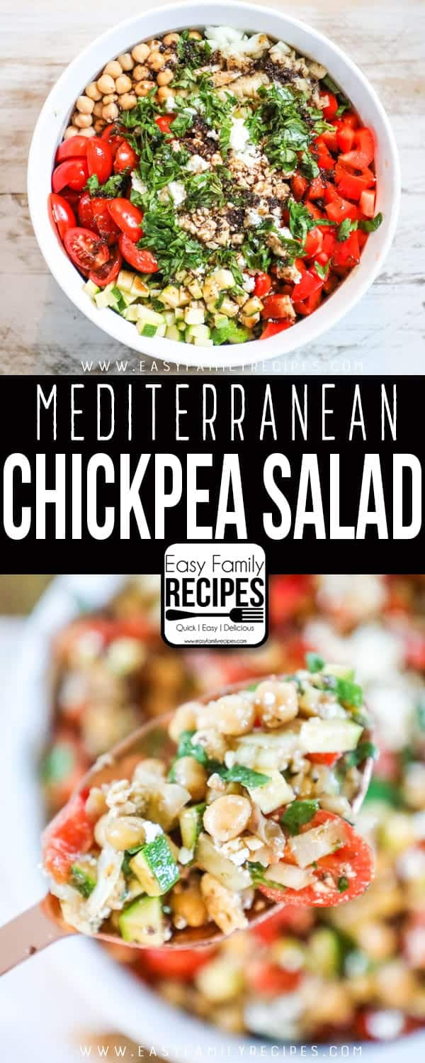 Quick and Easy Chickpea Salad is a perfect weeknight meal.