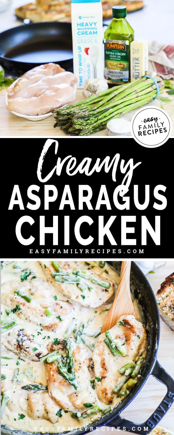 Chicken and Asparagus recipe ingredients