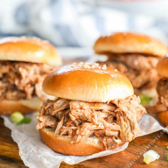 3 Tender BBQ Pulled Pork Sandwiches