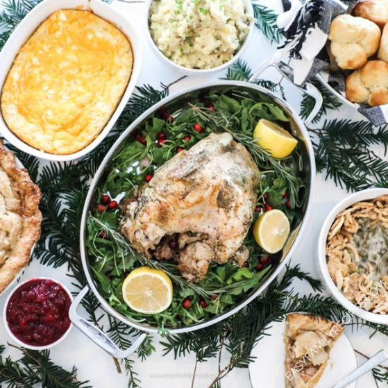 Christmas Spread of food on a table