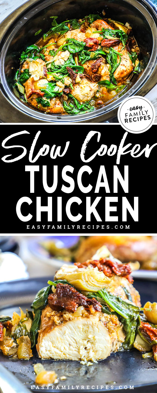 Cutting into Chicken Breast from Crock Pot Tuscan Chicken