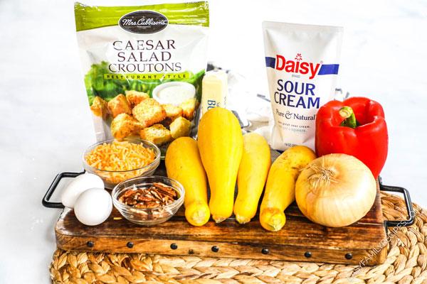 Squash Casserole Ingredients