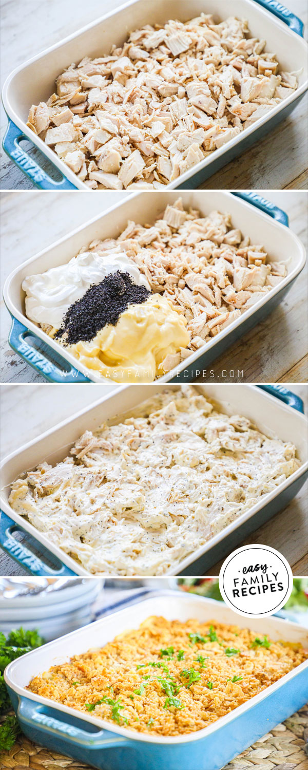 Process photos for How to make Poppy Seed Chicken Casserole