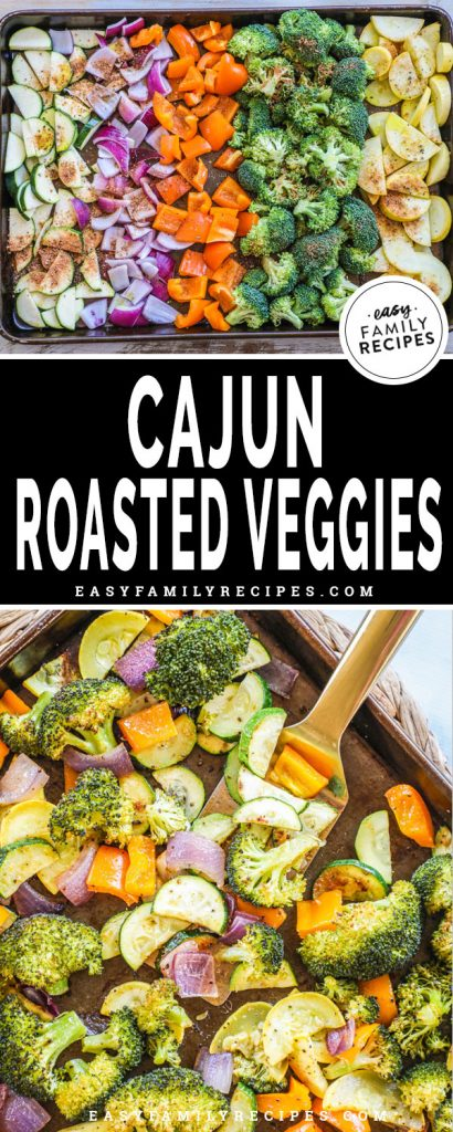Vegetables cut up on a sheet pan