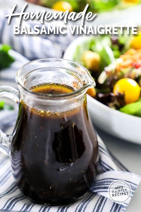Homemade Balsamic Vinaigrette in salad dressing jar